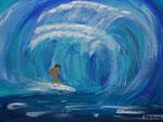 Surfer 2011 Acryl auf Leinwand (verkauft)
