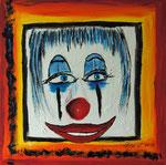 Der Clown 2013 Acryl auf Leinwand