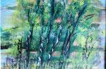 Am Waldrand, Aquarell auf Papier 30 x 23 cm 20.00