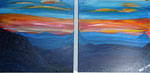 Blaue Berge 2011 Acryl auf Leinwand (verkauft)