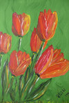 Tulpen  Acryl auf Leinwand