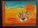 Gepard 2015 Acryl auf Karton