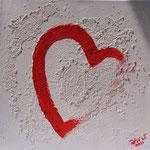 Rot Weiss 2016 Acryl auf Leinwand  30 x 30 cm (verkauft)