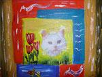 Sisu die Katze  Acryl auf Leinwand (verkauft)