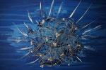 Eisblume 2013 Acryl auf Leinwand mit Metall und Glasperlen. (verkauft)