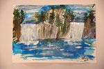 Wasserfall 2016 Acryl auf Papier  20.00