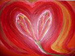 Flower Heart 2010  Acryl auf Leinwand