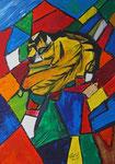 Kubische rTieger 2015 Acryl auf Leinwand