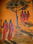 Massai 2010  Acryl auf Leinwand