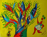 Lebensbaum 2015 Acryl auf Leinwand