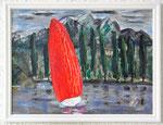 Tribschen mit Pilatus 2016 Acryl auf Karton 30 x 40 cm 50.00