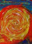 Ein Planet entsteht 2015 Acryl auf Malkarton