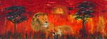 Löwen 2015 Acryl auf Leinwand (verkauft)