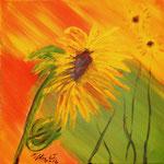 Sonnenblume 2 2016 Acryl auf Leinwand 40 x 40 cm (verkauft)