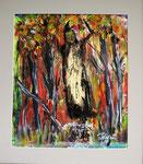 Zauberwald, 2016 Acryl auf Papier 30 x 40 cm (verkauft)