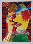 der Kuss frei nach Pablo Picasso 2015 Collage