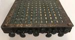 Logaritmógrafo SOURDILLE, lado neperiano con vista lateral de los rodillos