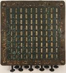 Logaritmógrafo SOURDILLE, lado destinado para multiplicación y división con ábaco multiplicativo de Napier