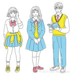 雑誌「レタスクラブ」挿絵・18歳の高校生