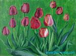 Тюльпаны в парку. 30х40 см