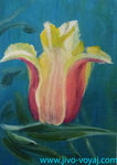 Тюльпан акрилом