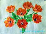 Тюльпаны оранж. 30х40 см