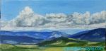 Облака и горы. Севастополь. 20х40 см
