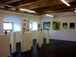 Temporäre Galerie der Kunst und Kulturtage 2012 / Bilder Sabine Schneider / Bronzen Fabian Rabsch