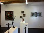 Temporäre Galerie der Kunst und Kulturtage 2012 / Quilts Jutta Kohlbeck/ Bronzen Fabian Rabsch