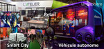 Disruptions dans le Retail (Grab and go, immersion, personnalisation, logistique) et Smart City (véhicule autonome, dépolluant, données personnelles, Lidar)