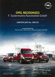 Sodermanns Opel Zertifikat