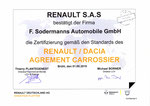 Sodermanns Renault Zertifikat