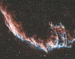 NGC 6992 in Bicolor, AP 115/800+TS 0,79 Reducer, 4,5 Std Belichtung, 2X2 Binning.