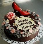 Schokoladen Geburtstagstorte - High Heel