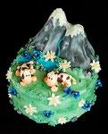 Schokoladen Geburtstagstorte - Schweizer Berge