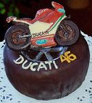 Schokoladen Geburtstagstorte - Motorrad