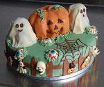 Schokoladen Geburtstagstorte - Halloween