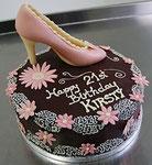Geburtstagstorte mit Schokoladen High Heel