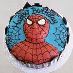 Schokoladen Geburtstagstorte - Spiderman