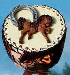 Schokoladen Geburtstagstorte - Pferd