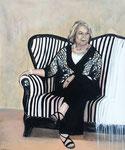 """Die bemerkenswerte Frau Rohden"", Acryl 100x120, Andrea Meßmer, 1350 €"