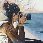 Susanne, Acrylbild 80 80 Andrea Meßmer