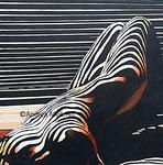 Die moderne Aphrodite im Schattenspiel, Acrylbild 80 x 80 Andrea Meßmer