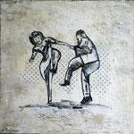 """""""swing dein Leben"""" Acryl, 50x50, Andrea Meßmer, 200€"""
