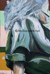 Dirndl - Frau in Tracht, Acrylbild 80 x 100 Andrea Meßmer