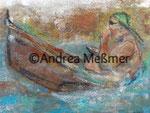 Übergewicht, Acrylbild 20 x 30  Andrea Meßmer