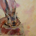 rabbit, Acrylbild Andrea Meßmer