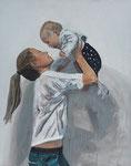 """""""Mein Schatz Lara"""", Acryl 1,20 x 1,50, Andrea Meßmer, 1080 €,  verkauft"""