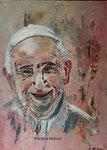 Papst Franziskus, Acrylbild 20 x 30, Andrea Meßmer