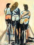 Fittnessrondevous, Acryl 60 x 80, 2017, 700€, Andrea Meßmer